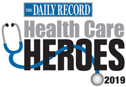 The Daily Record Health Care Heroes logo
